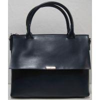 Женский кожаная сумка (тёмно-синяя) 18-11-009
