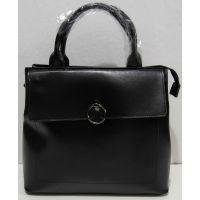 Женская кожаная сумка (чёрная) 18-11-024