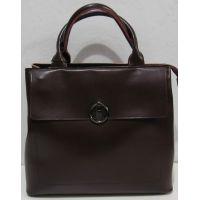 Женская кожаная сумка (бордовая) 18-11-024