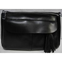 Кожаная сумка кросс-боди (чёрная) 18-12-119