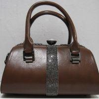 Женская каркасная сумка  (коричневая) 18-12-126