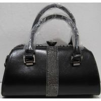 Женская каркасная сумка (чёрная)  18-12-126