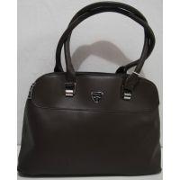 Женская  сумка на 3 отделения (коричневая) 18-12-133
