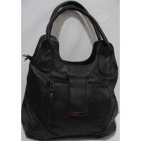 Женская сумка с карманом (чёрная) 18-12-149