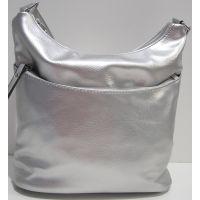 Женская сумка кросс-боди (серебряная) 19-02-022