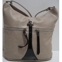 Женская сумка кросс-боди (бежевая) 19-02-024