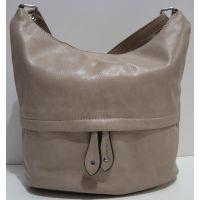 Женская сумка кросс-боди (тёмно-бежевая) 19-02-029