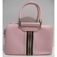 Женская каркасная сумка (розовая) 19-02-033