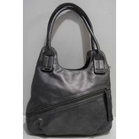 Женская сумка на два отделения (серая) 19-02-037