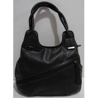 Женская сумка на два отделения (чёрная) 19-02-037