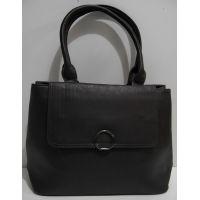 Женская сумка с клапаном (чёрная) 19-02-038