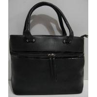 Женская сумка с карманом (чёрная) 19-02-039