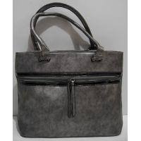 Женская сумка с карманом (серебряная) 19-02-039