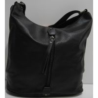 Женская сумка кросс-боди (чёрная) 19-03-041