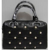 Женская каркасная сумка (чёрная) 19-03-050
