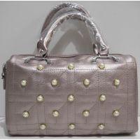 Женская каркасная сумка (розово-бронзовая) 19-03-050