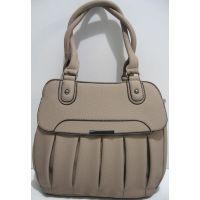 Женская сумка с клапаном (тёмно-бежевая) 19-04-007
