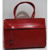 Женская кожаная сумка (красная) 19-04-009