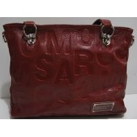 Женская кожаная сумка (красная) 19-04-012
