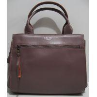 Женская кожаная каркасная сумка (светлая бургунд) 19-04-013