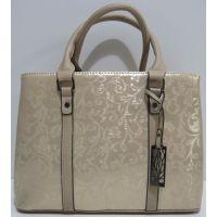 Женская сумка с узором ( бежевая )19-04-018