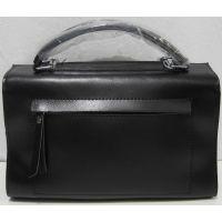 Женская кожаная сумка (чёрная) 19-05-195