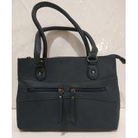 Женская сумка с замочками (синяя) 19-07-004