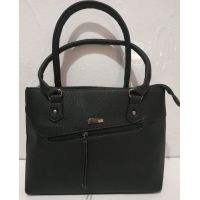Женская сумка с замочком (чёрная) 19-07-005