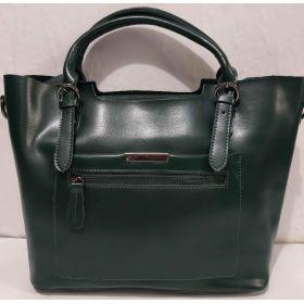 Женская кожаная сумка (зелёная ) 19-08-026