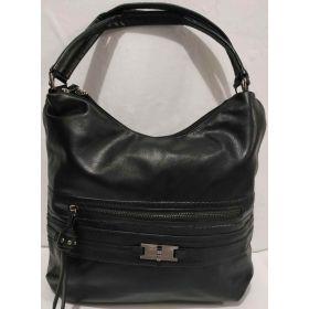Женская  сумка на два отделения (чёрная ) 19-08-027