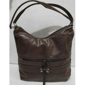 Женская  сумка на два отделения (коричневая ) 19-08-027