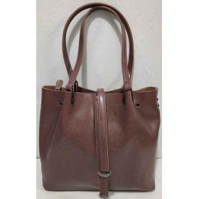 Женская кожаная сумка (бургунд ) 19-08-030