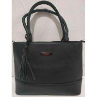 Женская сумка с кисточками (чёрная) 19-08-066