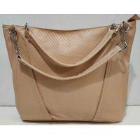 Женская сумка с тиснением (кремовая) 19-08-074