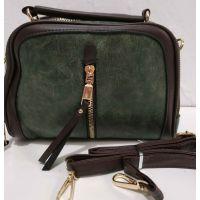 Женская сумка кросс-боди (зелёная)19-08-086