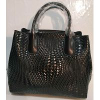 Женская кожаная плетёная сумка 19-10-069