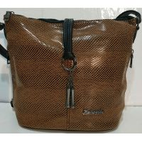 Женская сумка кросс- боди (коричневая)  19-10-071