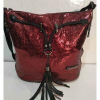 Женская сумка кросс- боди (чёрная)  19-10-075