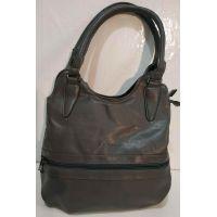 Женская сумка на два отделения Kenguru (серая) 19-10-091