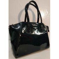 Женская лаковая сумка (синяя ) 19-10-102