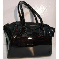 Женская лаковая сумка (чёрная ) 19-10-102