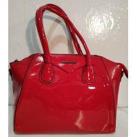 Женская лаковая сумка (красная ) 19-10-102