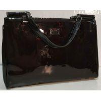 Женская лаковая сумка (шоколадная ) 19-10-103