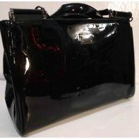 Женская лаковая сумка (чёрная ) 19-10-103