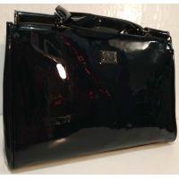 Женская лаковая сумка (синяя ) 19-10-103