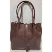 Женская кожаная сумка (бургунд ) 19-10-104