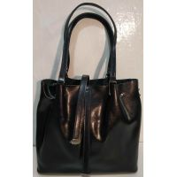 Женская кожаная сумка (синяя ) 19-10-104