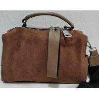 Женская замшевая сумка-клатч (коричневая) 19-11-035
