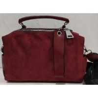 Женская замшевая сумка-клатч (бордовая) 19-11-035