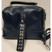 Женская сумка кросс-боди (синяя) 19-11-036